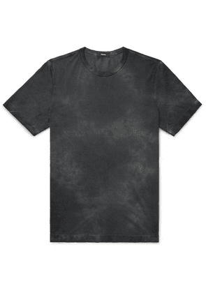 Theory - Tie-dyed Pima Cotton T-shirt - Gray
