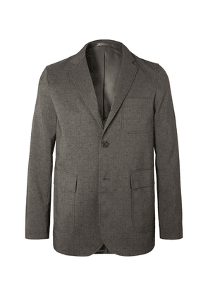 Beams Plus - Unstructured Printed Woven Blazer - Gray