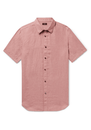 Theory - Irving Linen Shirt - Pink