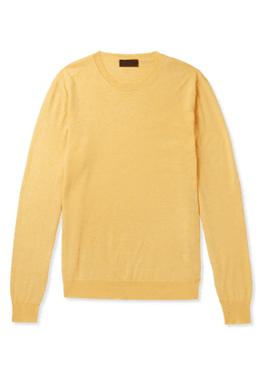 Altea - Cotton And Cashmere-blend Sweater - Yellow