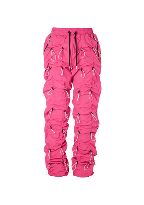 99%IS- - Gobchang Stretch-shell Drawstring Trousers - Pink