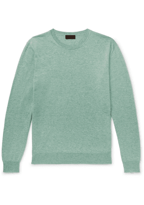 Altea - Cotton And Cashmere-blend Sweater - Green