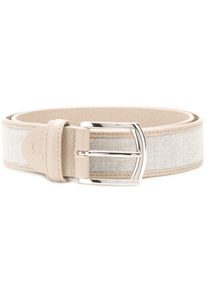 Canali logo embossed belt - Neutrals