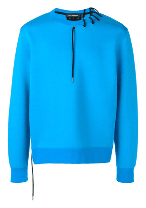 Craig Green lace-up sweater - Blue