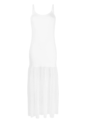 D.Exterior mesh cami-top styled dress - White