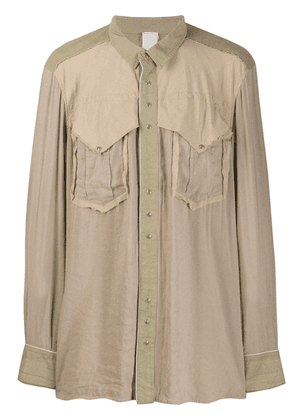 Carpe Diem loose fit overshirt - Neutrals