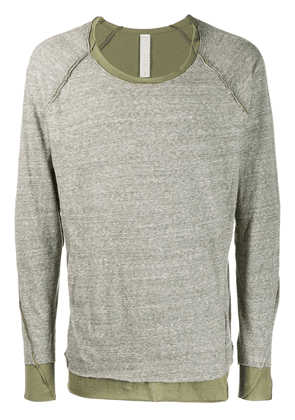 Carpe Diem layered T-shirt - Neutrals