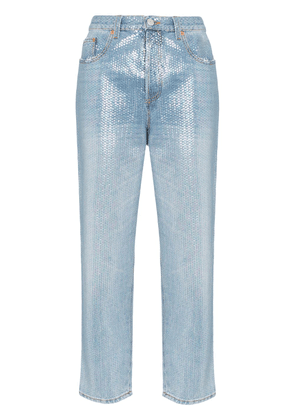 Gucci sequin-embellished cropped jeans - Metallic