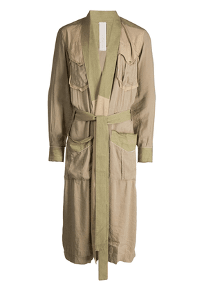 Carpe Diem belted oversized coat - Neutrals