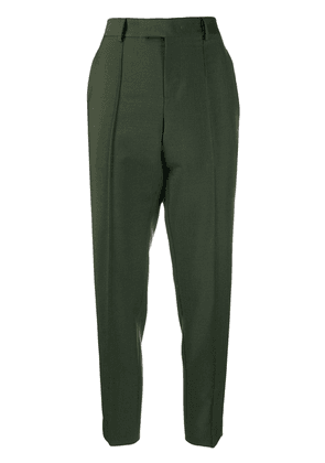 Bottega Veneta straight leg cropped trousers - Green