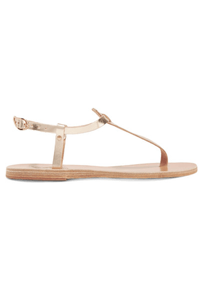 Ancient Greek Sandals - Lito Metallic Leather Sandals - Gold