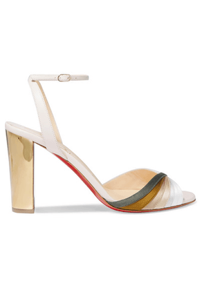 Christian Louboutin - Naseebasse 85 Satin And Leather Sandals - Tan