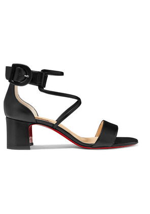 Christian Louboutin - Choca 55 Leather Sandals - Black