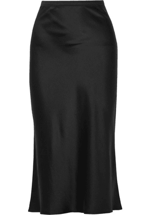 Anine Bing - Bar Silk-satin Midi Skirt - Black