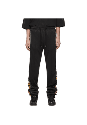 99% IS Black Leopard Zipper Line Lounge Pants