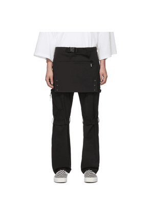 99% IS Black Overall Trousers