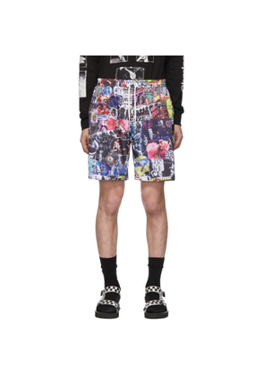 99% IS Multicolor Collage Shorts