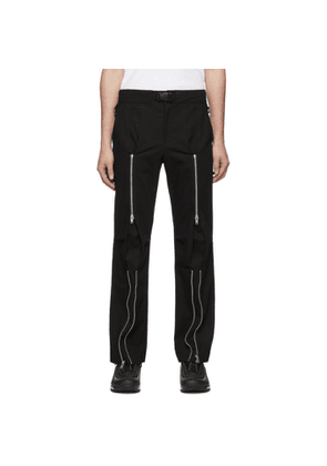 99% IS Black Bondage Trousers