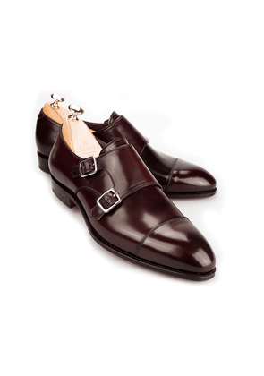 Burgundy Cordovan Leather Double Monk Straps