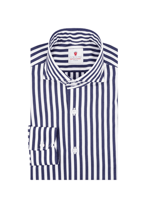 Navy and White Cotton Stripe Dandy Shirt