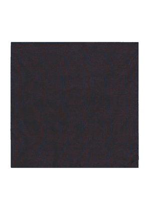 Brown and Blue Prince of Wales Check Silk Pocket Square
