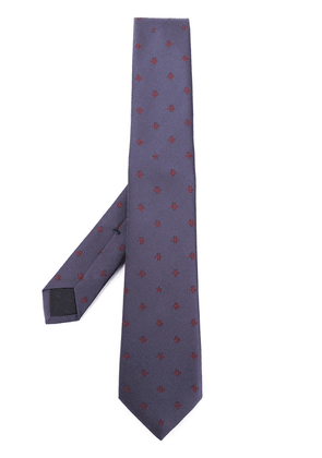 Gucci bees and stars tie - Blue