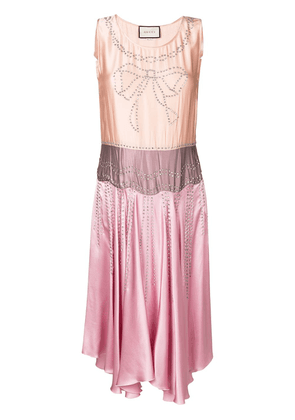 Gucci crystal-embellished dress - Pink
