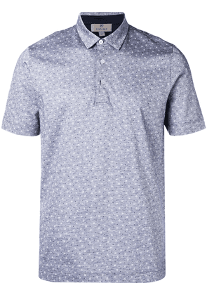 Canali patterned polo top - Blue