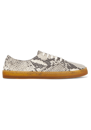 Gabriela Hearst - Marcello Snake-effect Leather Sneakers - Snake print