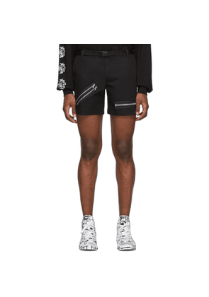 99% IS Black Zip Shorts