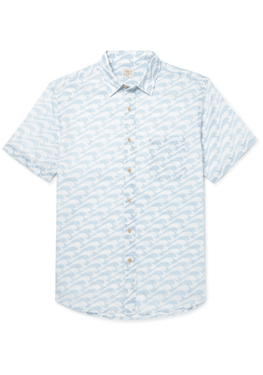 Faherty - Printed Cotton-voile Shirt - Blue