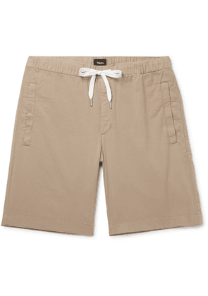 Theory - Nevins Cotton-blend Twill Drawstring Shorts - Mushroom