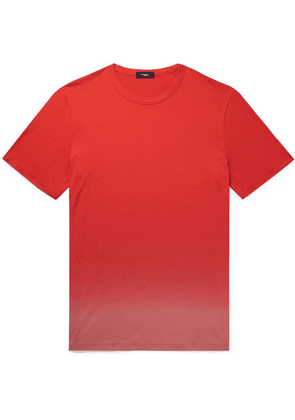 Theory - Essential Dip-dyed Pima Cotton-jersey T-shirt - Red