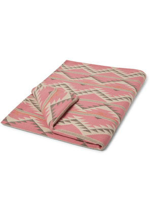 Faherty - Organic Cotton-flannel Jacquard Blanket - Pink