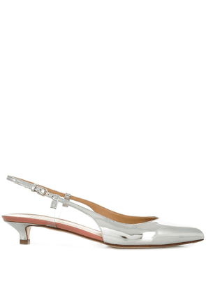 Francesco Russo pointed slingback pumps - 209 Silver