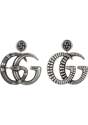 Gucci Metal earrings with Double G - Silver