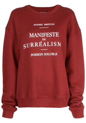 Enfants Riches Déprimés Manifeste du Surréalisme sweatshirt - Red