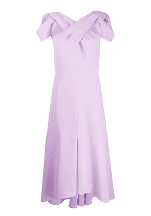 Delpozo short-sleeve flared dress - Purple