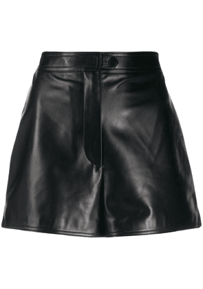 Valentino tailored leather shorts - Black