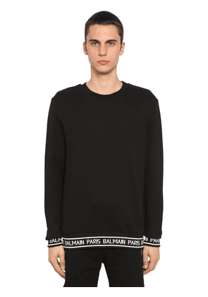Logo Band Cotton Jersey Sweatshirt
