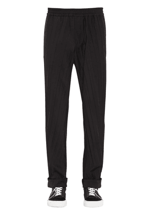 Pleated Wool Blend Jogging Pants