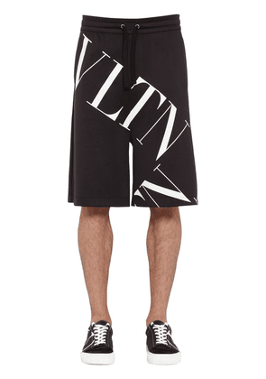 Printed Cotton Blend Jersey Shorts