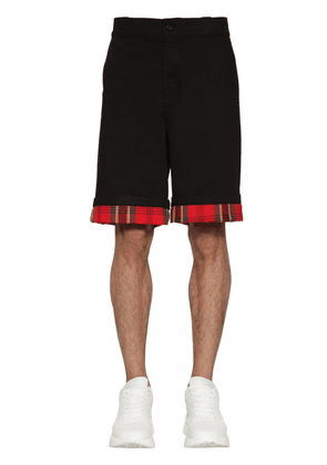 Cotton Shorts W/ Tartan Details