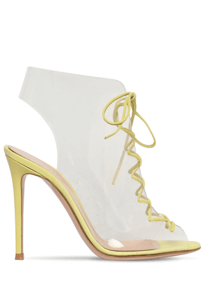 105mm Helmut Leather & Plexi Ankle Boots