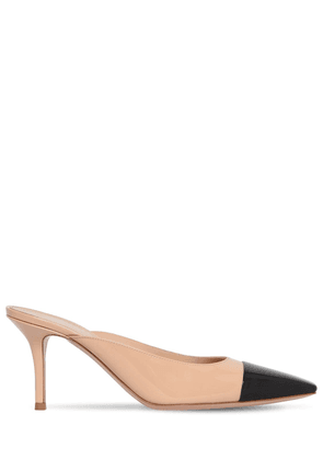 70mm Patent Leather Mules