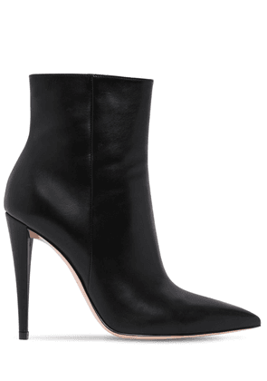 100mm Scarlet Leather Ankle Boots