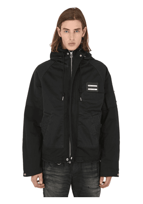 Cropped Technical Cotton Parka