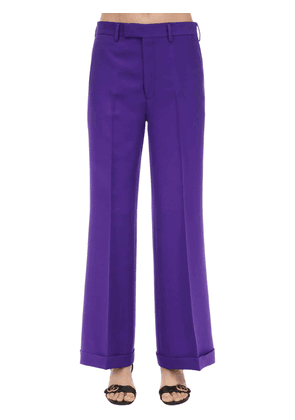 Cady Crepe Wool & Silk Flared Pants