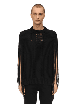 Destroyed Acrylic Knit Sweater
