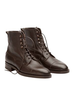 Dark Brown Leather Galway Utah Laced Boots